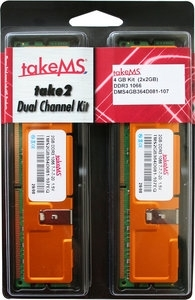 takeMS DIMM 4 GB DDR3-1066 Kit  (DMS4GB364D08x-107)