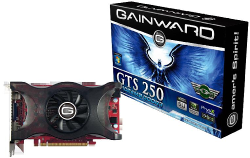 Gainward GTS250  (Retail, HDMI, DVI)
