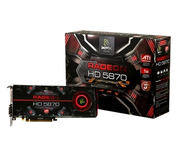 XFX HD5870  (Retail, HDMI, 2x DVI, DisplayPort)